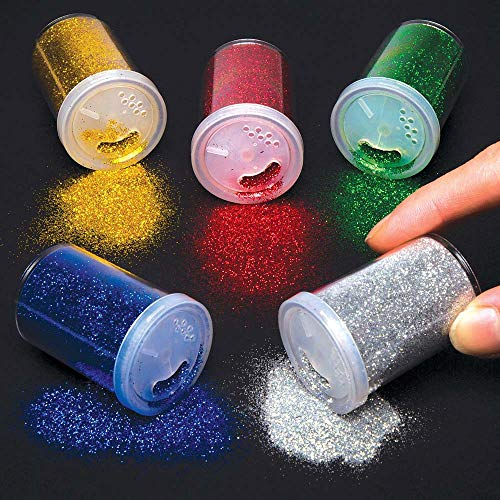 Baker Ross Glitter Shakers (Pack Of 5) For Kids Arts And Crafts