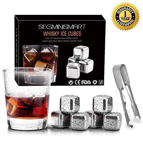 The Cold Shot - Kugelförmige Whiskey Steine Aus Rostfreiem Stahl