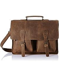 Vintage Leather Laptop Messenger Bag - Vintage Brown - B07C65XKJF