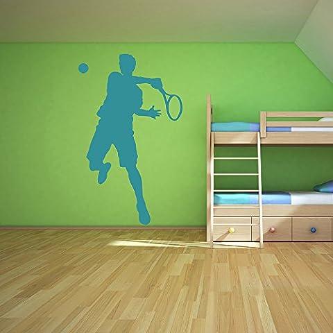 Joueur de tennis Wall Sticker Sport Sticker Art Disponible en 5 tailles et 25 couleurs