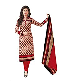 Baalar Women's Cotton Dress Material (1423_Free Size_maroon)