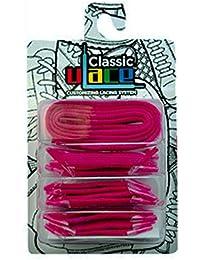 U-LACE - Lacets Fushia Fluo (Neon Magenta) Lacets élastiques sans laçage à mixer à l'infini