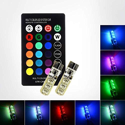 Safego T10 Auto Lampada Atmosfera Luce a LED Con Telecomando a Raggi Infrarossi RGB Lampadine W5W LED 6-5050 SMD 16 Colo