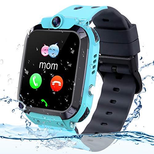 Smartwatch Kinder Wasserdicht Telefon Uhr, Vannico Kids Smartwatch für Jungen Mädchen Kinder Smartwatch mit SIM SOS Anruf (Blau)