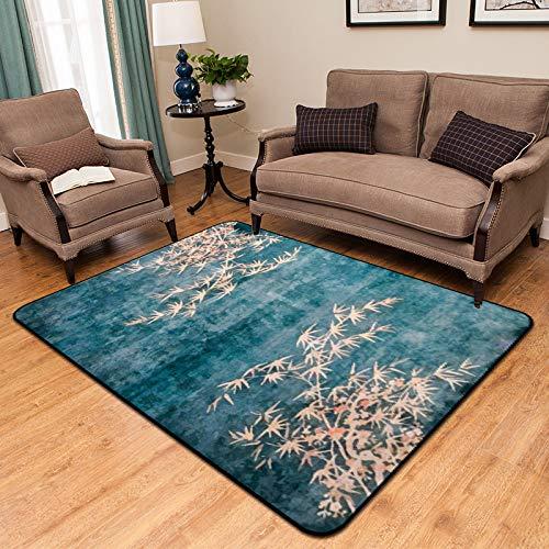 Chinesische Teppich (MU Teppich - Chinesischen Stil Rechteckigen Teppich, Vintage Teppich, Wohnzimmer Schlafzimmer Casual Home Rutschfesten Teppich,D,120 * 180 cm)