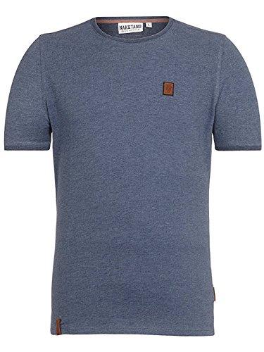 Naketano Male T-Shirt Bumsebumse Shirt III indigo blue melange
