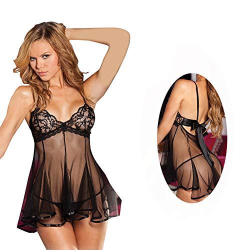 4cf8a474b5 EVBEA Lencería Mujer Erótica Babydoll con Tanga Ropa Interior Mujer Sexy  Conjuntos Dormir Vestido Camisones Encaje