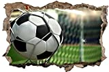 Fussball Tor Ball Stadion Wandtattoo Wandsticker Wandaufkleber D0412 Größe 70 cm x 110 cm