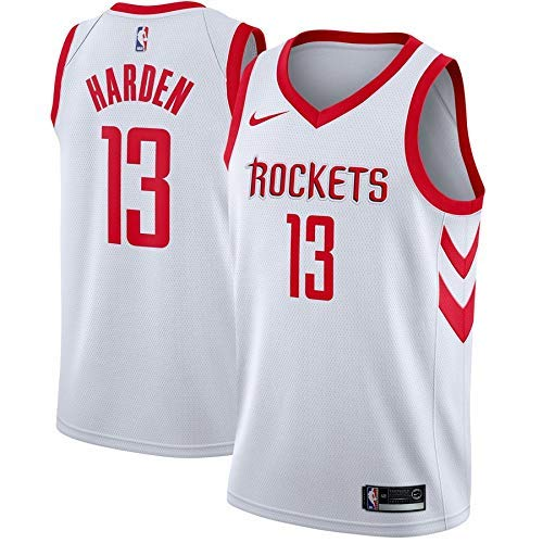 meet 4a4cb a2fe3 Lalagofe James Harden, Houston Rockets #13, Basket Jersey Maglia Canotta,  Bianca, Maglia Swingman Ricamata, Stile di Abbigliamento Sportivo (L)