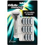 Gillette Mach3 - Maquinilla para hombre + 11 recambios de hojas de afeitar
