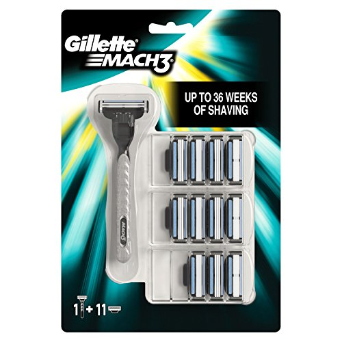 Gillette Mach3 Men's Razor and 12 Razor Blades