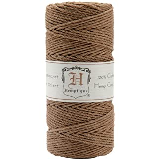 Hemptique Hemp Cord Spool 20lb 205'-Light Brown, Other, Multicoloured, 6.06 x 6.06 x 11.9 cm