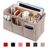 Hokeeper Felt Purse Insert Organizer, Organisateur de sac à main, Sac en sac, Organisateur de sac à couches, Stand on own, 12 compartiments, 3 tailles, 6 couleurs
