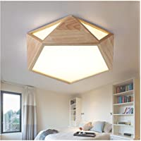 Lilamins Led Leuchten Massivholz Kreative Holz Lampen Geometrie Decke Licht Ideal Fr Lounge