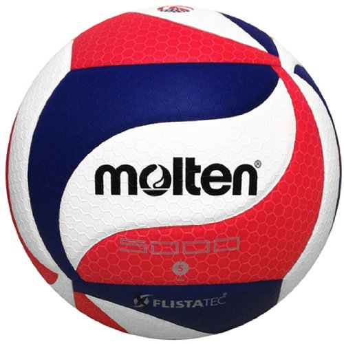 Molten Flistatec Volleyball, Unisex Damen Jungen Mädchen Herren, V5M5000-3USA, USAV Official - Red, White, Blue, Official
