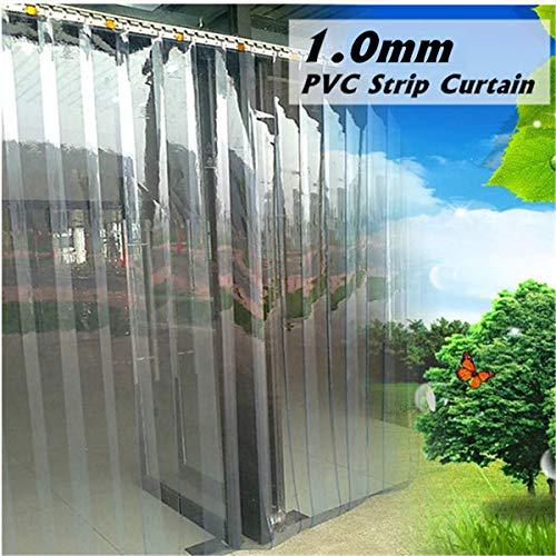 200 * 18 * 0,1 cm PVC Kunststoff Streifen Vorhang Gefrierschrank Zimmertür Streifen Kit Kleiderstange Transparente Vorhänge Winddicht Wärme Kältebeständig -