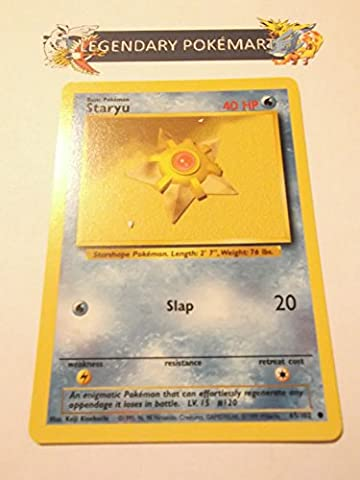 Pokemon Base Set Common Card #65/102 Staryu
