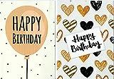 """Greetingles, Geburtstagskarten """"Happy Birthday"""", mit modernem Design und Umschlägen, 10Stück Hergestellt in Großbritannien."""