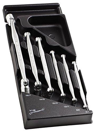 Preisvergleich Produktbild FACOM Gelenkschlüssel Satz SW 6-17 mm, 6 Teiligin Ordnungssystem, 1 Stück, MOD.66A-1