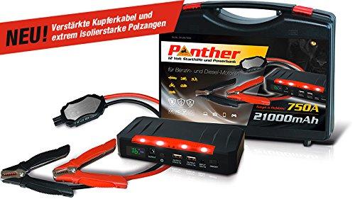 Preisvergleich Produktbild Panther Minibooster SN-T808 - Mobiles Lithium Startgerät (neue Version)