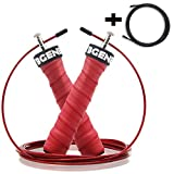 CybGene Springseil Sport 2-in-1 Fitness Seilspringen 360°Kugellager Speed Rope-2 verstellbare...