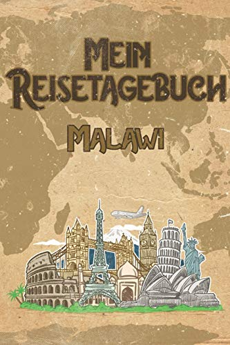 Mein Reisetagebuch Malawi: 6x9 Reise Journal I Notizbuch mit Checklisten zum Ausfüllen I Perfektes Geschenk für den Trip nach Malawi für jeden Reisenden