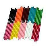 Sunnysam 50st mini niet-glitter gekleurde kunst ambachtelijke hete lijmpistool zelfklevende kleverige sticks