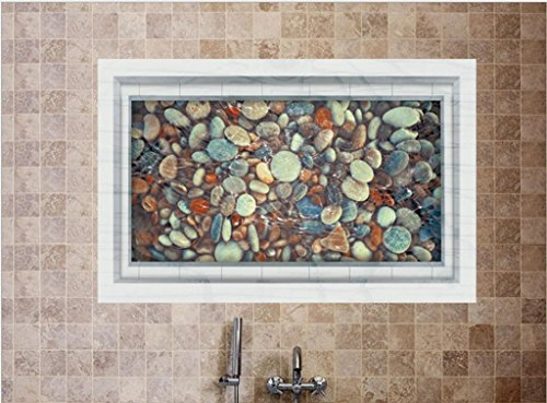 KKLL Wand-Sticker 3D Kieselsteine Teich Bodenbeläge Innendekoration Wandtattoo PVC , 60*90cm