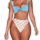 Kanpola Bikini Set Damen Elegance Hohe Taille Zweiteilige Tops und Bottoms Set Bademode Strandmode