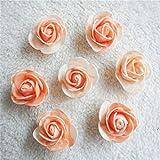 Xizi 100 pcs Petit Mini Satin Ruban Fleurs Rose De Mariage Décor À Coudre Appliques DIY...