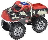 hibuy Spielzeug Monster Truck Dinosaurier mit Sound und Fahrfunktion Rot