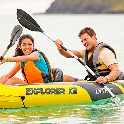 51yKTQx6tuL. SS500  - Intex Explorer K2 Kayak, 2-Person Inflatable Kayak Set with Aluminum Oars and High Output Air Pump