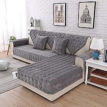 C Cubre Brazos Sofa Protector CojíN Segmento L En Forma Funda Cubre Sofá Chaise Longue Grueso