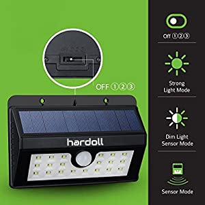 20 LED Bright Solar Lights Outdoor Garden Motion Activated Solar Power Light For Driveway Path