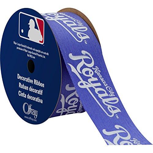 Offray MLB Kansas City Royals Stoff Band, 1–5/40,6cm X 9ft