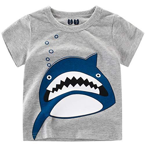 79c6d1b2c Oyoden Camisetas Manga Corta Niños Dibujos Animados Tops Bebé Verano  Algodón Blusa 1-8 Años
