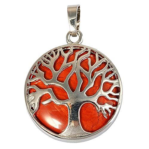 KYEYGWO Baum des Lebens Anhänger Halskette für Frauen, Heilung Kristall Segen Amulett Anhänger für Modeschmuck -