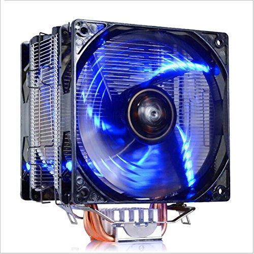 Led-heatpipe (JHKJ 5 Heatpipe 120Mm Lüfter Mit LED/Intelligente Temperaturregelung Kühler/AMD Intel Plattform Kompatibel (Nicht Einschließlich AM4),Blue)