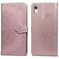 Handyhülle iPhone XR,Handytasche iPhone XR,HUDDU Mandala Blumen Flip Leder Tasche iPhone XR 6.1 Zoll Hülle Wallet... preisvergleich bei billige-tabletten.eu