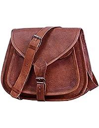 Chandra Ladies Leather Sling Bag (Brown)