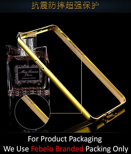 Febelo Febelo Branded Luxury Metal Bumper Acrylic Mirror Back Cover Case For Samsung Galaxy A5 – Gold Plated