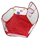 Sulifor 0,9 Meter Ballpool (ohne Ball) mit schießendem, sechseckigen Punktkugelspielzelt für Kinder, das Handtaschenspielzeug trägt
