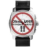 Fossil Orologio Band braccialetto di ricambio LB FS5038originale Cinturino di Pelle FS 5038cinturino per orologio di ricambio 24mm Nero