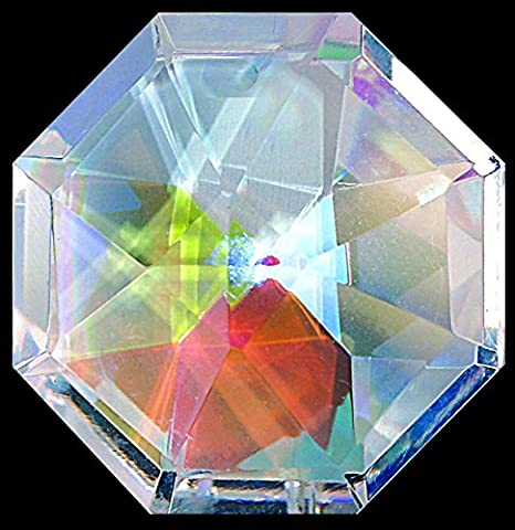 Pretty Octagon Shaped Window Hanging Crystal Rainbow Suncatcher - Great Stocking Filler / New Baby / Moving House Gift by Hanging Crystals