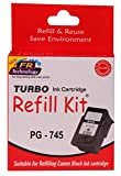 Turbo refill kit for Canon 745 black ink...