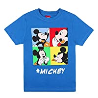 Disney Boy's Mickey Mouse T-Shirt, Blue (Daphne 762), 4 Years