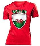 love-all-my-shirts Wales Fanshirt 4731 Damen T-Shirt (F-R) Gr. S
