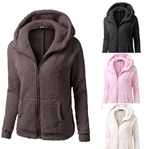 Tefamore-Femmes-Manteau–Capuchon-Manteau-Hiver-Chaud-Laine-Zipper-Manteau-Coton-Manteau