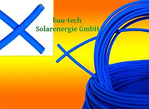 30 Meter Solarkabel BLAU Photovoltaik 6mm² Meterware für PV Solar Photovoltaik Montage von bau-tech Solarenergie GmbH