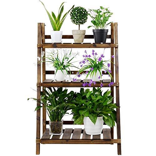 Yaheetech Estantería para Plantas Soporte Madera de Macetas Estante Escalera para Flores